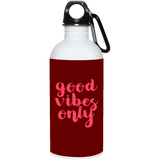 725 23663 20 oz. Stainless Steel Water Bottle, Drinkware, Whip Me Wear Fashion & T-Shirts