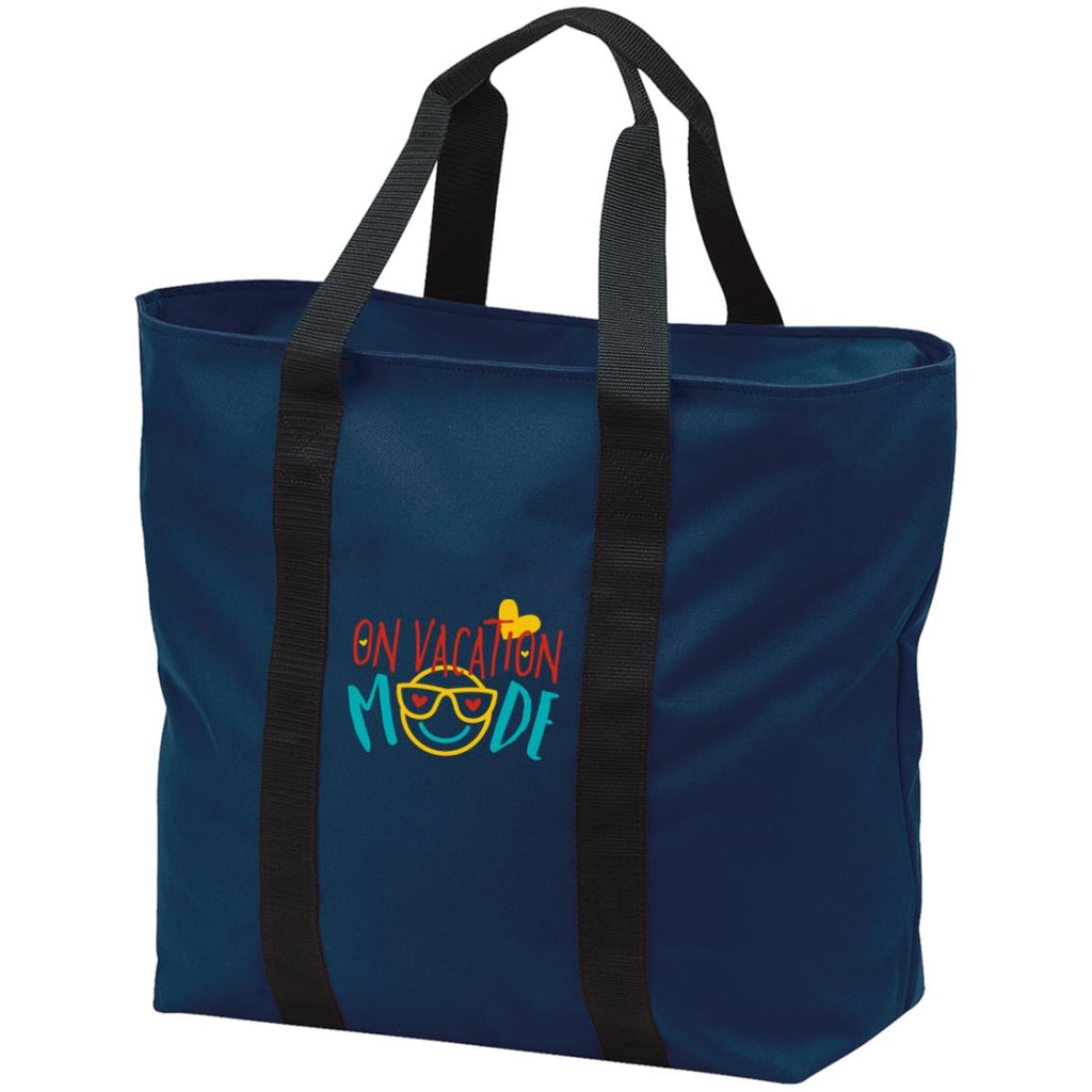 D24 On Vacation Mode B5000 Port & Co. All Purpose Tote Bag, Bags, Whip Me Wear Fashion & T-Shirts