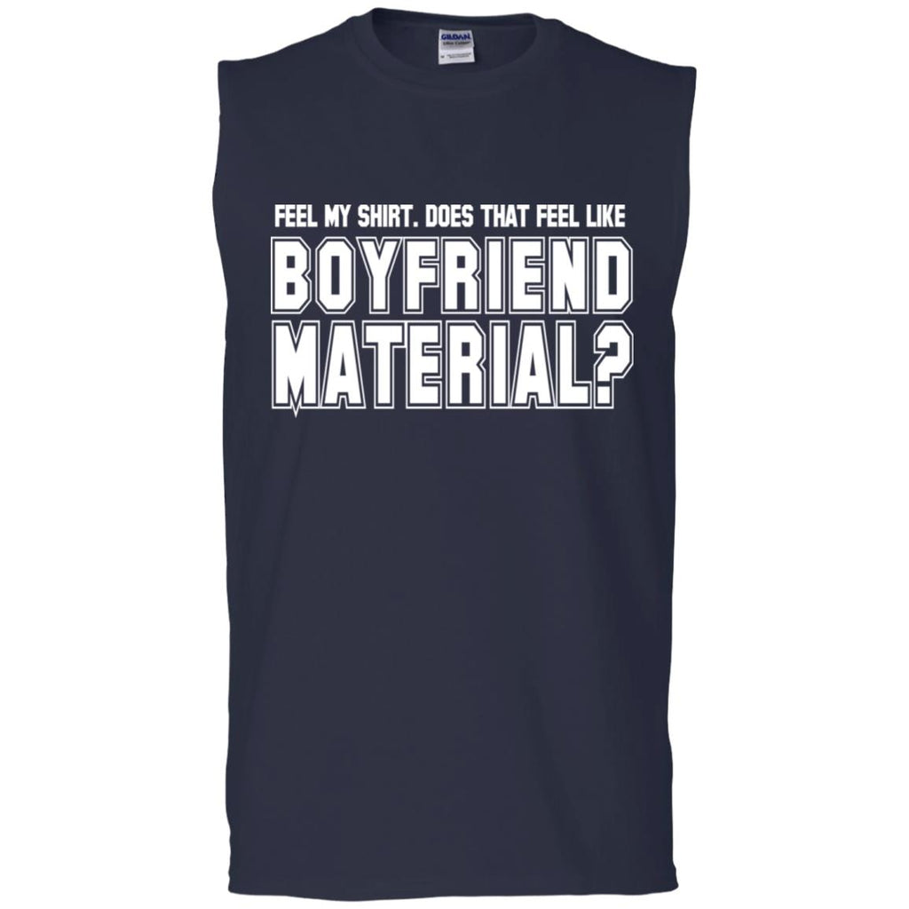 240 Boyfriend Material G270 Gildan Men's Ultra Cotton Sleeveless T-Shirt, T-Shirts, Whip Me Wear Fashion & T-Shirts