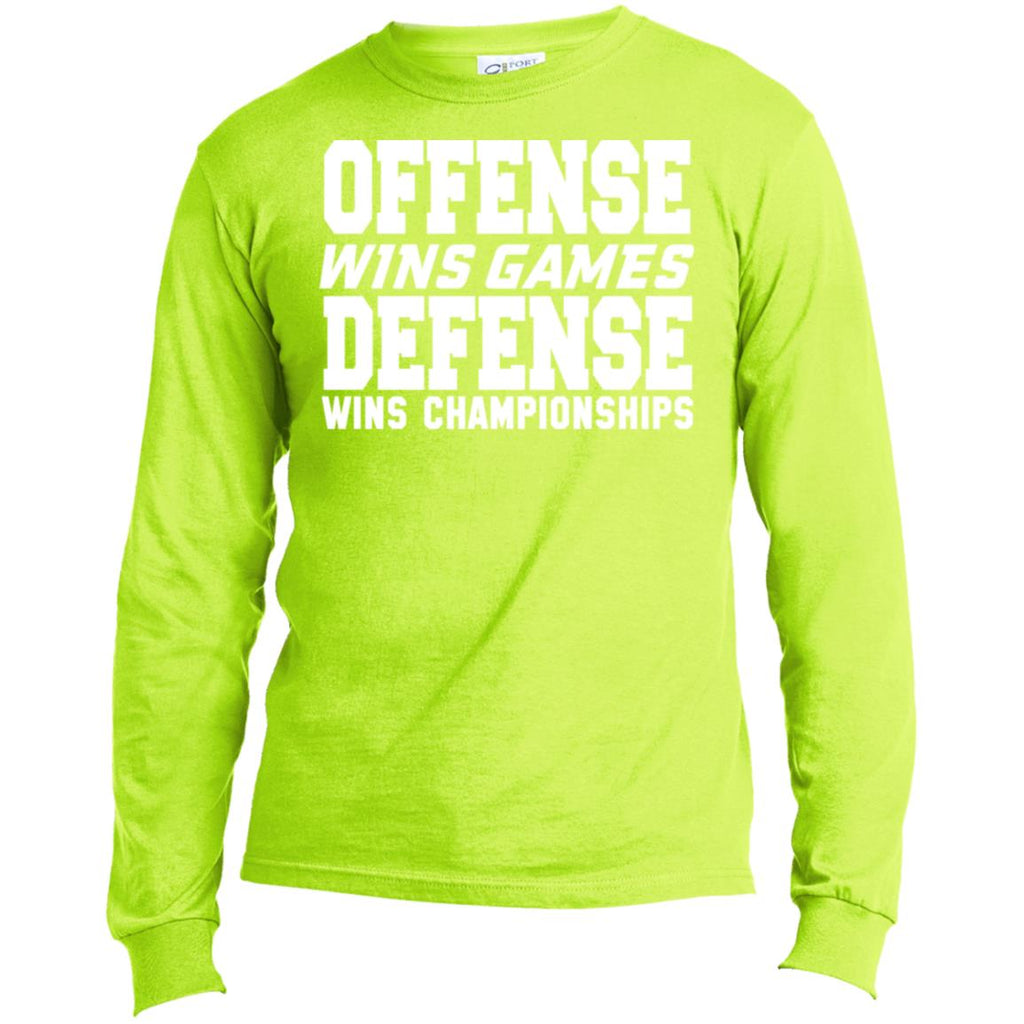 62 Offense Defense USA100LS Port & Co. LS Made in the US T-Shirt, T-Shirts, Whip Me Wear Fashion & T-Shirts