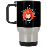 V1385 Santa's Little Helper XP8400S Silver Stainless Travel Mug, Drinkware, Whip Me Wear Fashion & T-Shirts