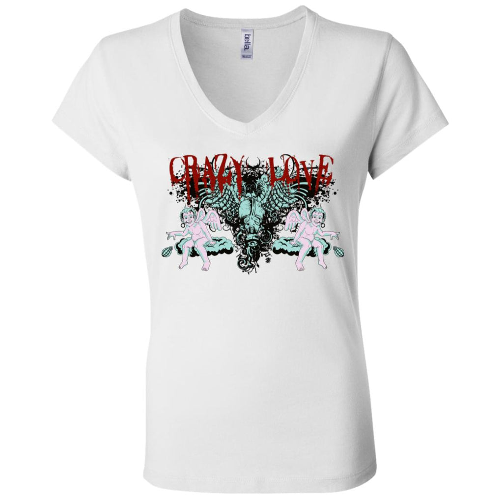 Vt23 Crazy Love B6005 Bella + Canvas Ladies' Jersey V-Neck T-Shirt, T-Shirts, Whip Me Wear Fashion & T-Shirts