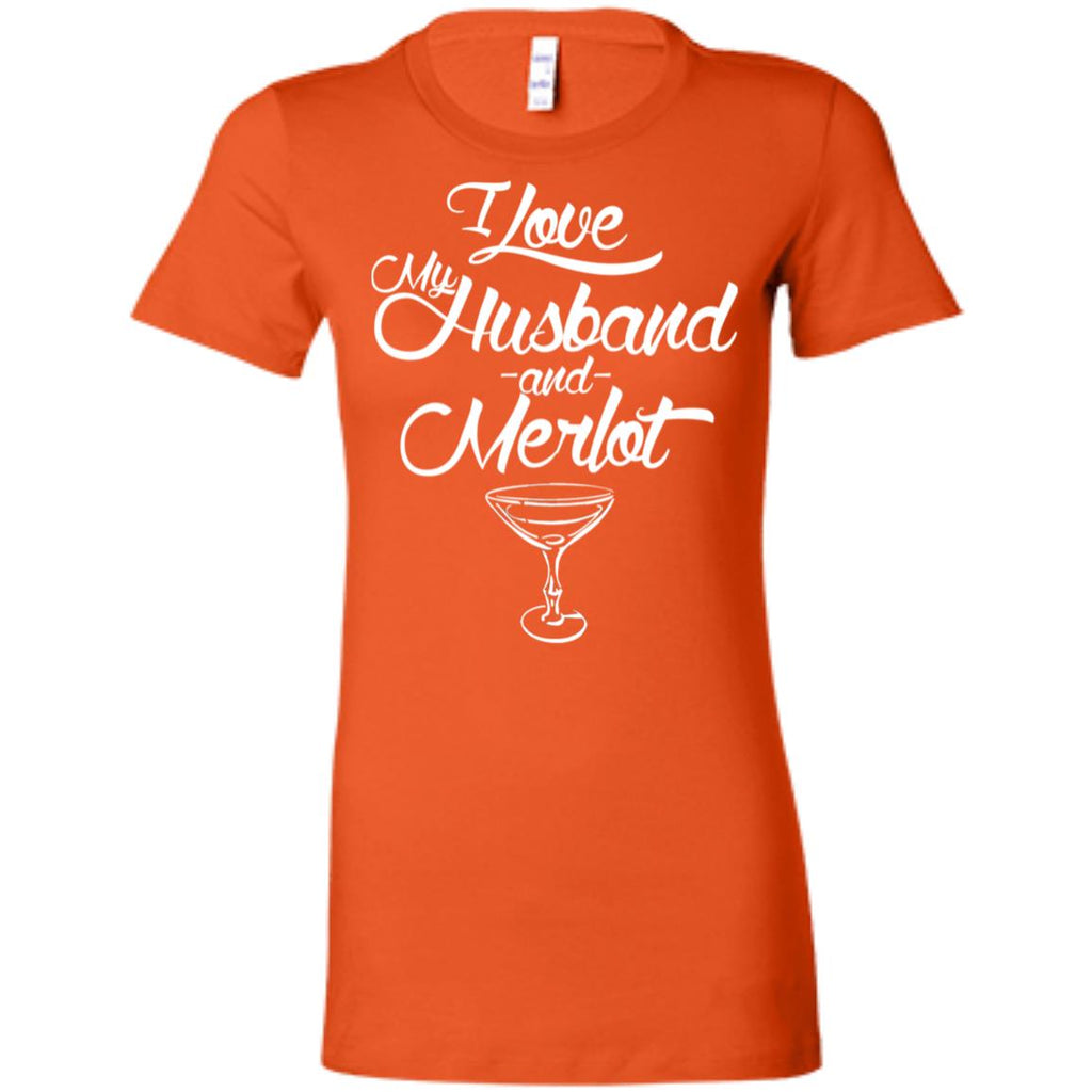 Z05 Love Husband And Merlot 6004 Bella + Canvas Ladies' Favorite T-Shirt, T-Shirts, Whip Me Wear Fashion & T-Shirts