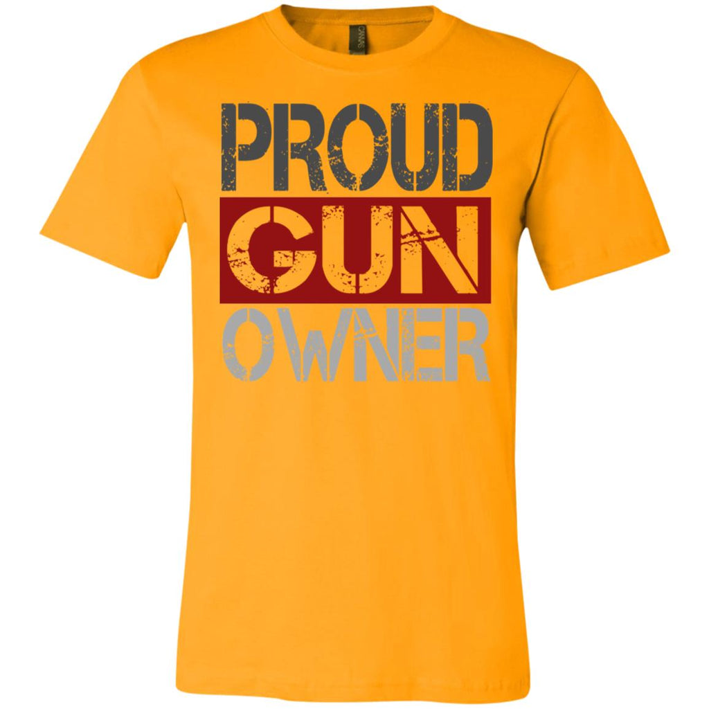 560 Proud Gun Owner 3001C Bella + Canvas Unisex Jersey Short-Sleeve T-Shirt, T-Shirts, Whip Me Wear Fashion & T-Shirts