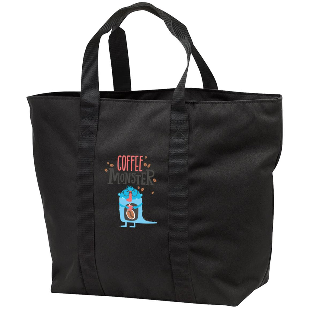 D1162 Coffee Monster All Purpose Tote Bag, Bags, Whip Me Wear Fashion & T-Shirts