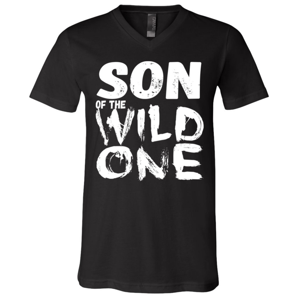 556 Son Of A Wild One 3005 Bella + Canvas Unisex Jersey SS V-Neck T-Shirt, T-Shirts, Whip Me Wear Fashion & T-Shirts