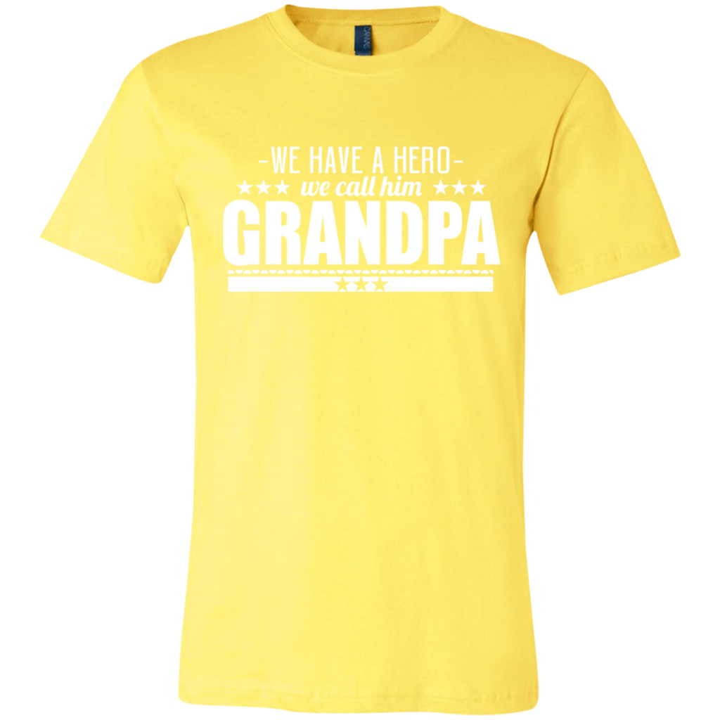 245 We Have A Hero We Call Him Grandpa Unisex Jersey Short-Sleeve T-Shirt, T-Shirts, Whip Me Wear Fashion & T-Shirts