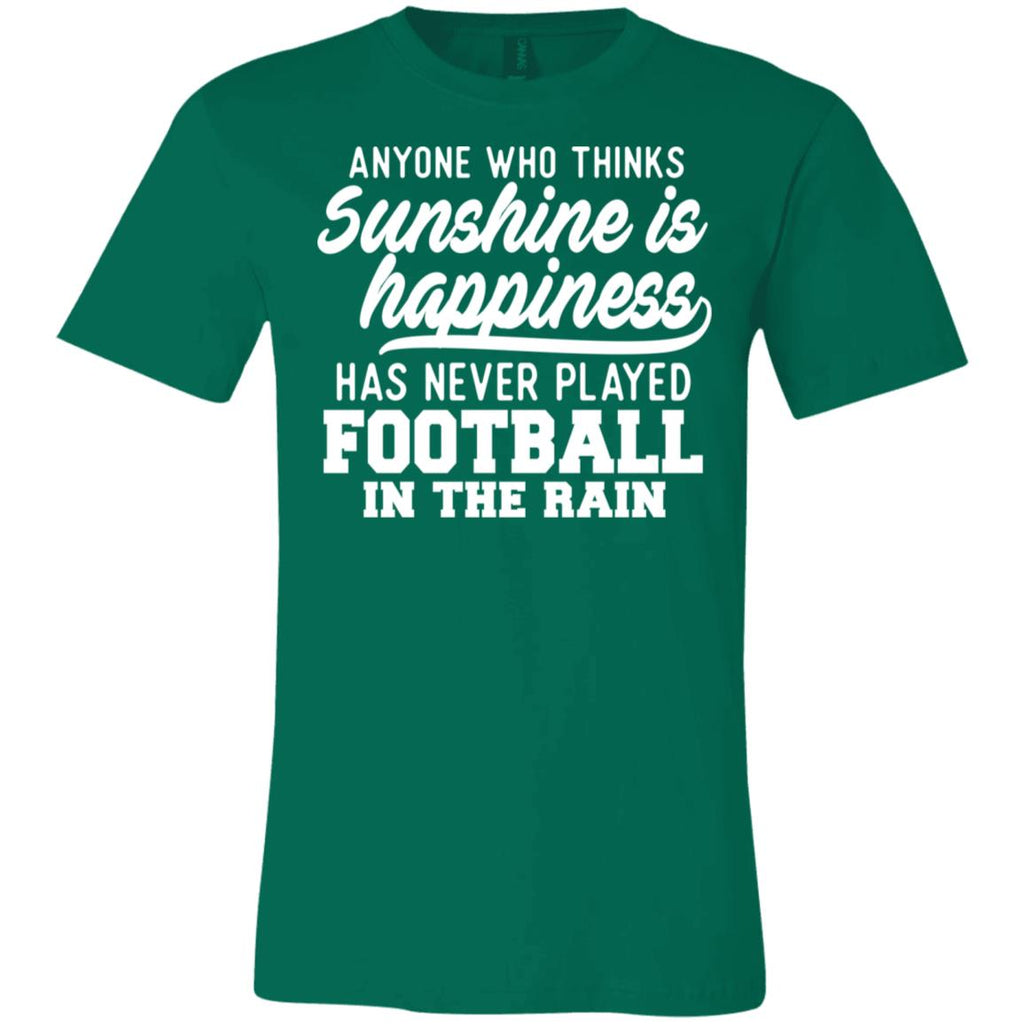 269 Football In Rain 3001C Bella + Canvas Unisex Jersey Short-Sleeve T-Shirt, T-Shirts, Whip Me Wear Fashion & T-Shirts