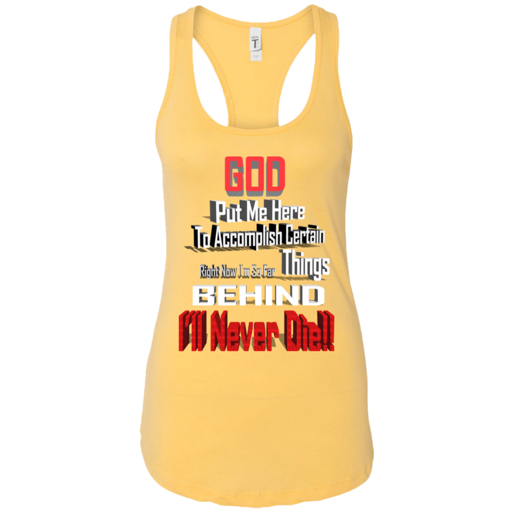 GOD BEHIND NL1533 Next Level Ladies Ideal Racerback Tank, T-Shirts, Whip Me Wear Fashion & T-Shirts