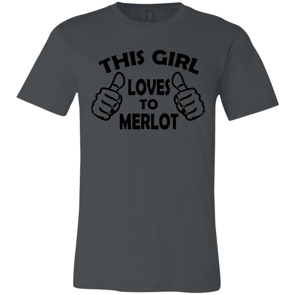 Z03 This Girl Loves To Merlot 3001C Bella + Canvas Unisex Jersey Short-Sleeve T-Shirt, T-Shirts, Whip Me Wear Fashion & T-Shirts