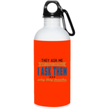 278 Football Why You Breathe 23663 20 oz. Stainless Steel Water Bottle, Drinkware, Whip Me Wear Fashion & T-Shirts