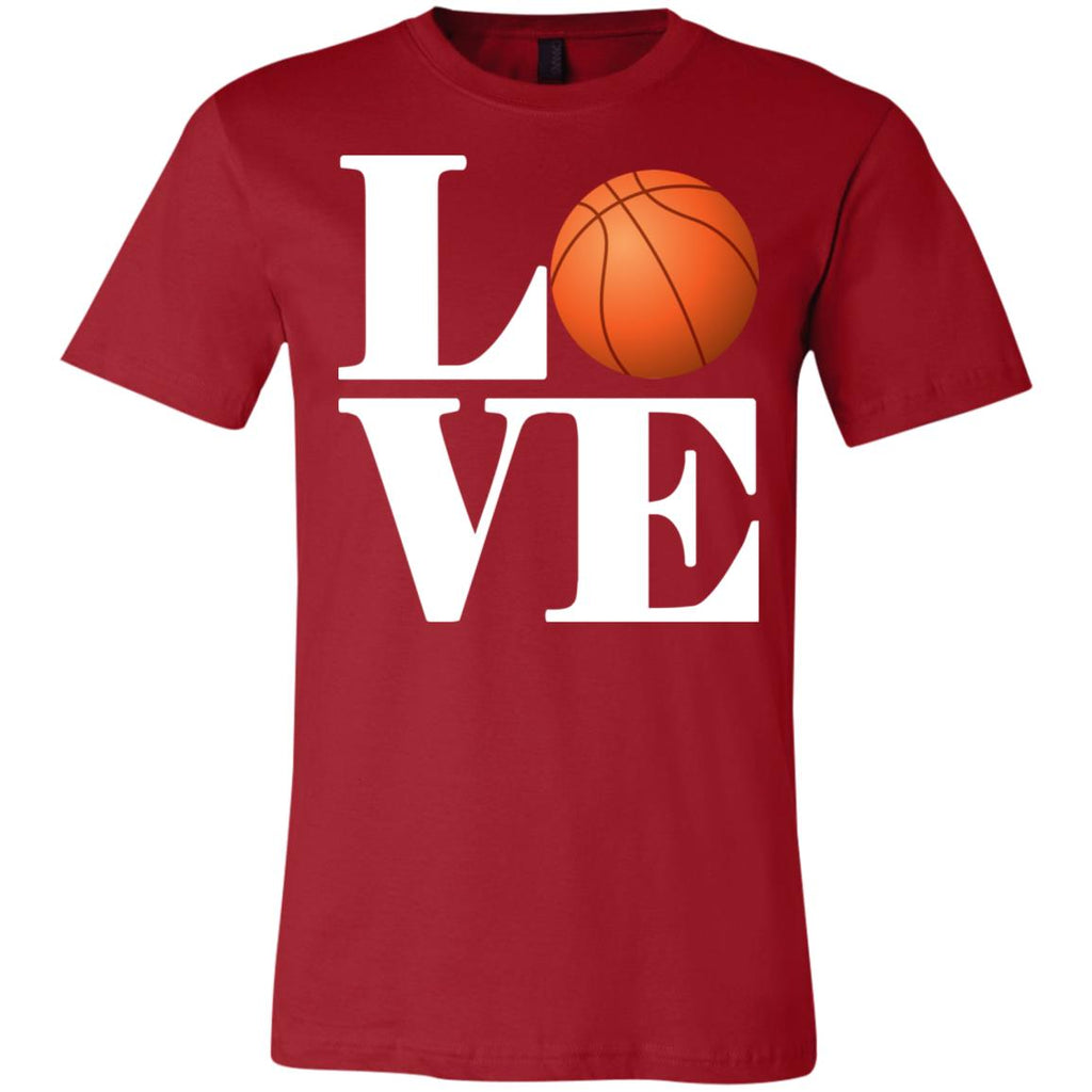 614 Love Basketball 3001C Bella + Canvas Unisex Jersey Short-Sleeve T-Shirt, T-Shirts, Whip Me Wear Fashion & T-Shirts