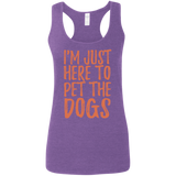 652 I'm Just Here To Pet The Dogs G645RL Gildan Ladies' Softstyle Racerback Tank, T-Shirts, Whip Me Wear Fashion & T-Shirts