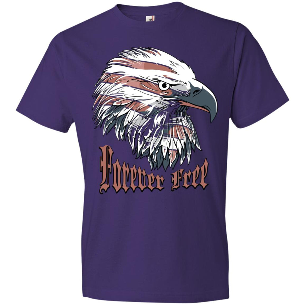 D558 Forever Free Eagle 980 Anvil Lightweight T-Shirt 4.5 oz, T-Shirts, Whip Me Wear Fashion & T-Shirts