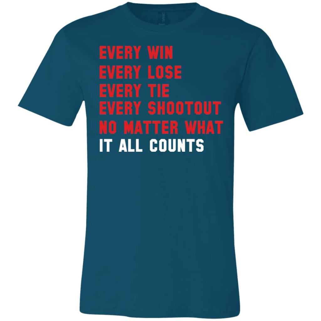 280 Win Lose Tie It Counts 3001C Bella + Canvas Unisex Jersey Short-Sleeve T-Shirt, T-Shirts, Whip Me Wear Fashion & T-Shirts