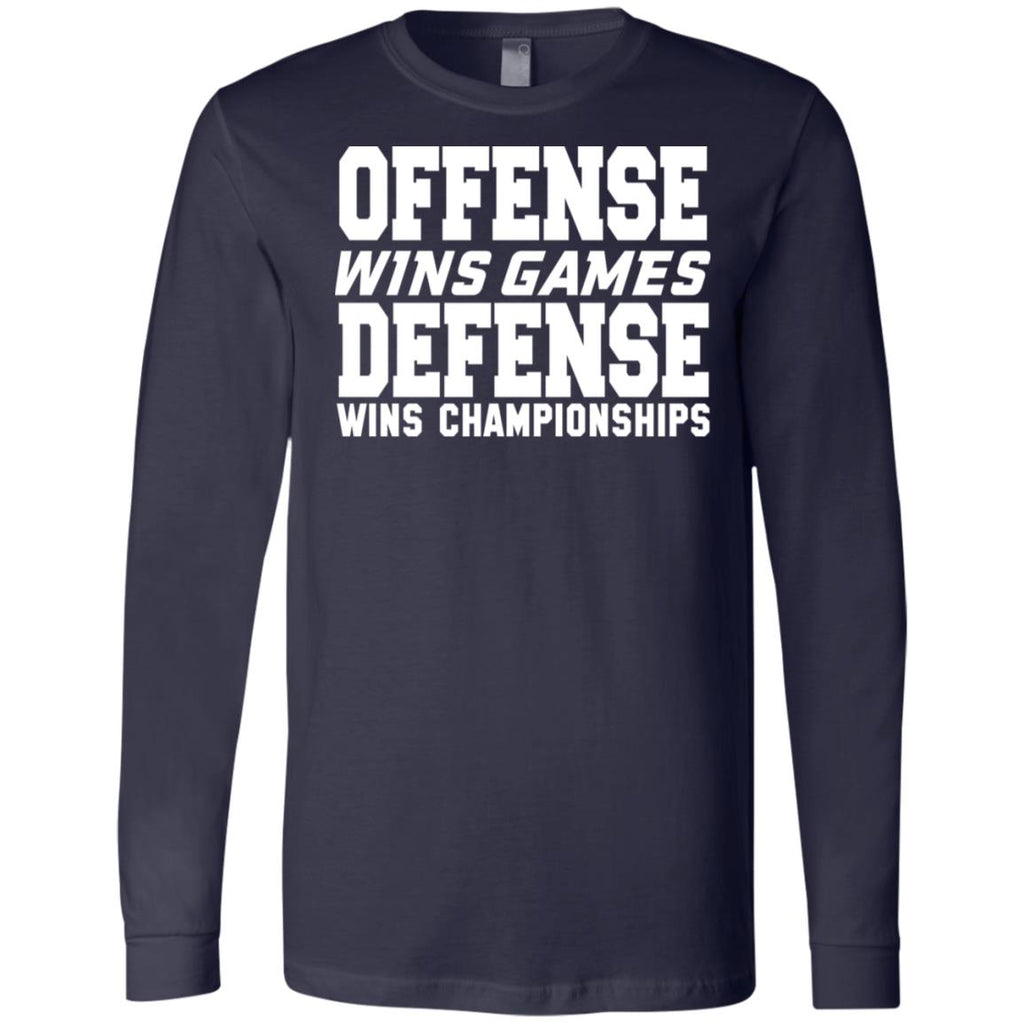 62 Offense Defense 3501 Bella + Canvas Men's Jersey LS T-Shirt, T-Shirts, Whip Me Wear Fashion & T-Shirts