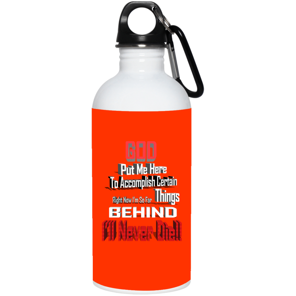 GB1 GOD BEHIND 23663 20 oz. Stainless Steel Water Bottle, Drinkware, Whip Me Wear Fashion & T-Shirts