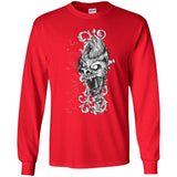 D410 Goth Scary Head G240 Gildan LS Ultra Cotton T-Shirt, T-Shirts, Whip Me Wear Fashion & T-Shirts