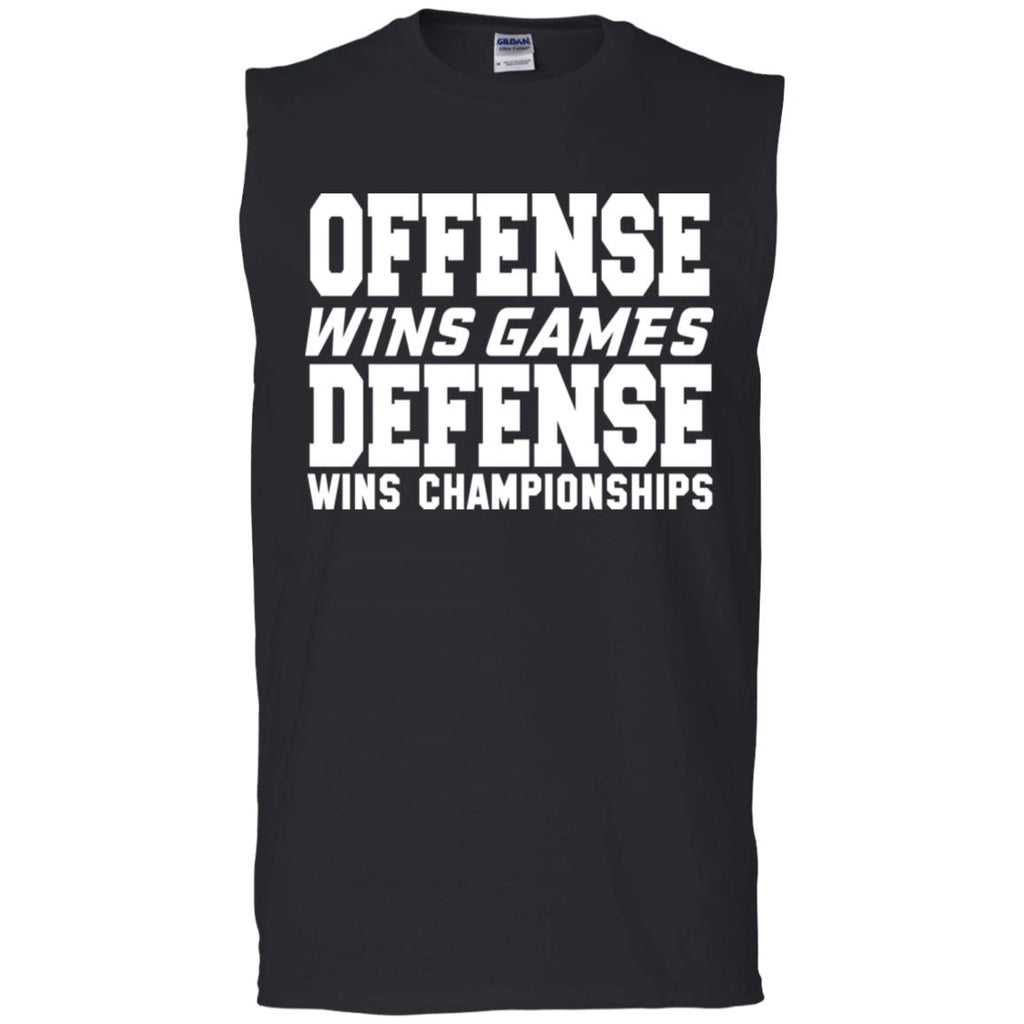 62 Offense Defense G270 Gildan Men's Ultra Cotton Sleeveless T-Shirt, T-Shirts, Whip Me Wear Fashion & T-Shirts