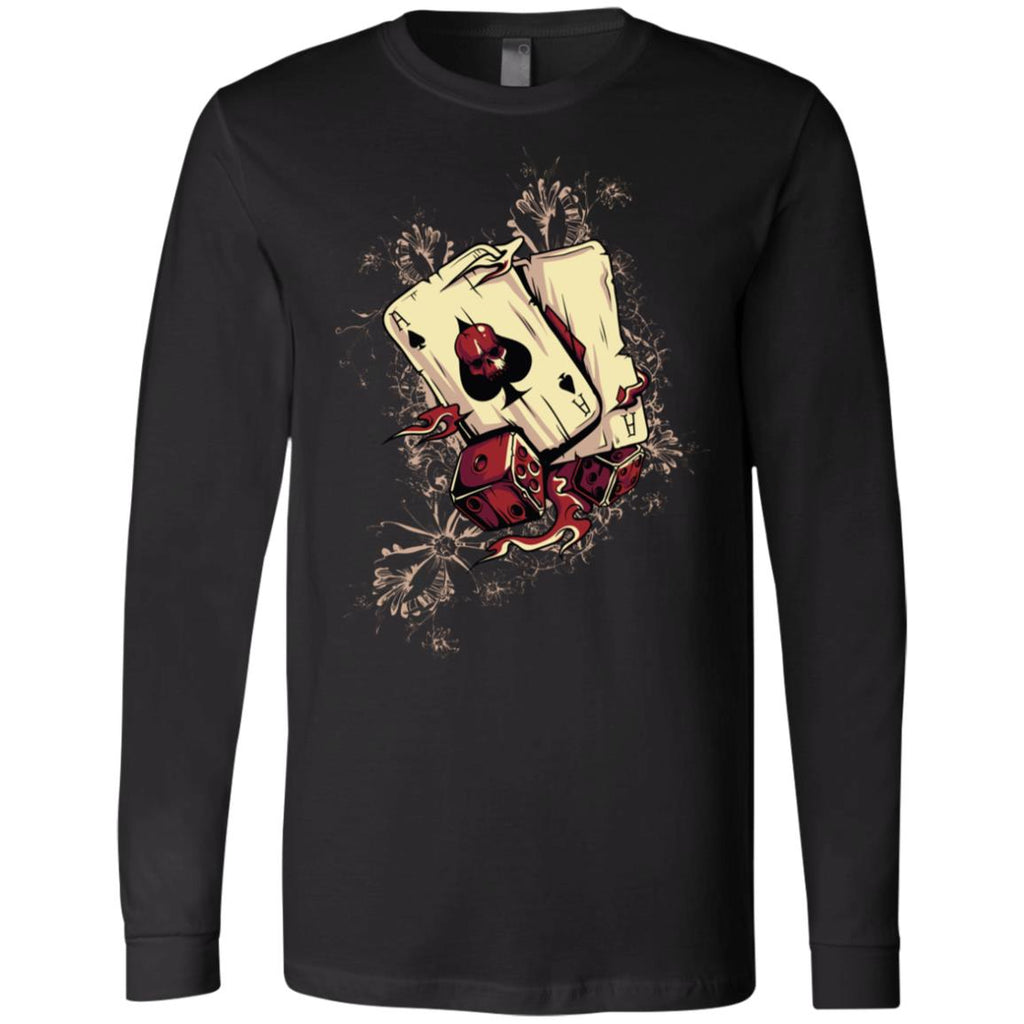 D643 Vintage Ace Spades 3501 Bella + Canvas Men's Jersey LS T-Shirt, T-Shirts, Whip Me Wear Fashion & T-Shirts