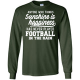 269 Football In Rain G240 Gildan LS Ultra Cotton T-Shirt, T-Shirts, Whip Me Wear Fashion & T-Shirts
