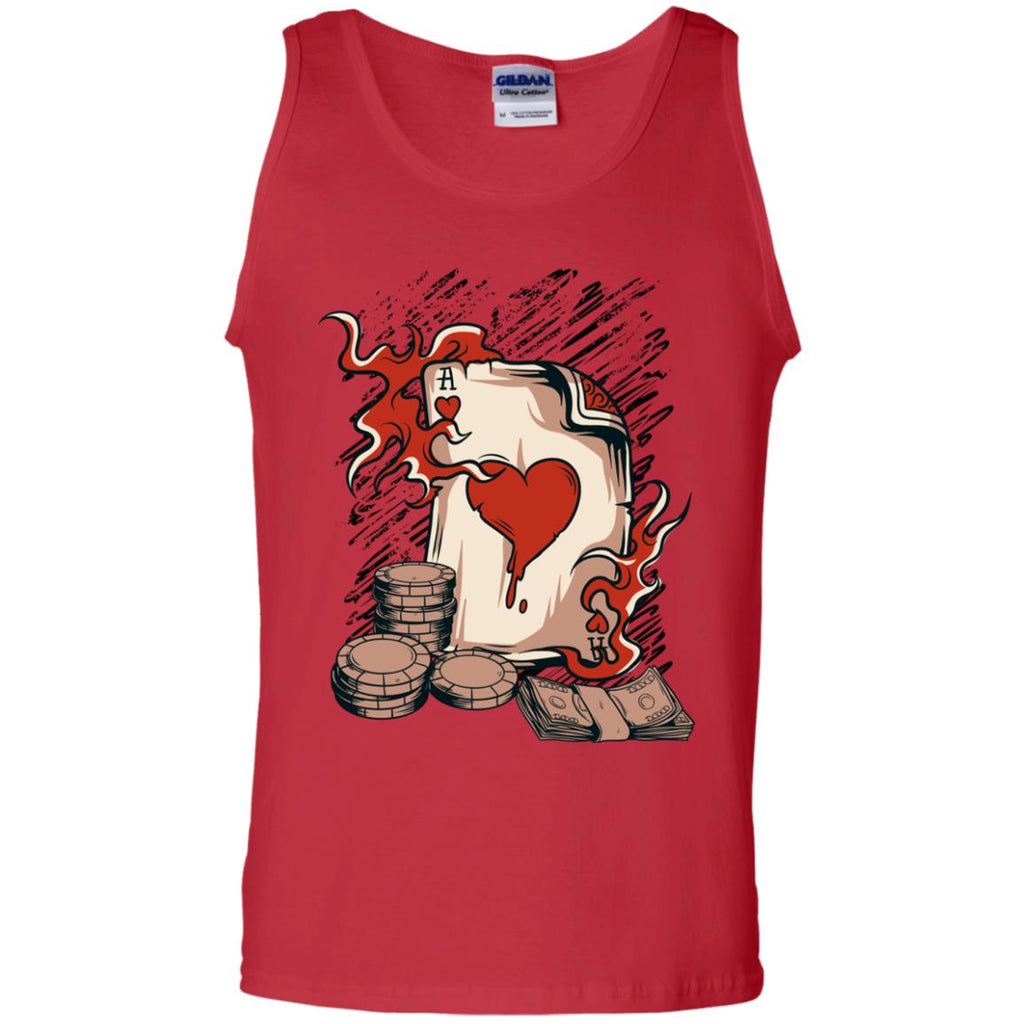 D606 Vintage Ace Hearts G220 Gildan 100% Cotton Tank Top, T-Shirts, Whip Me Wear Fashion & T-Shirts
