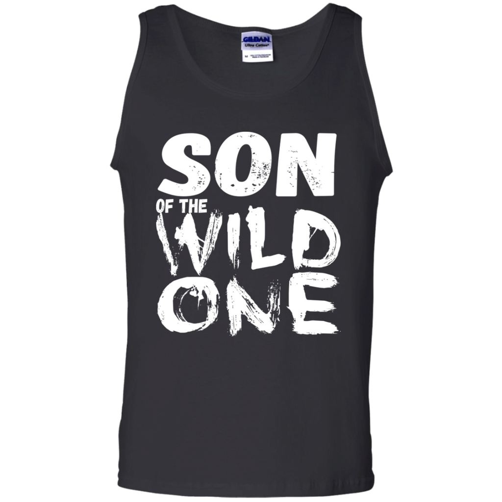 556 Son Of A Wild One G220 Gildan 100% Cotton Tank Top, T-Shirts, Whip Me Wear Fashion & T-Shirts