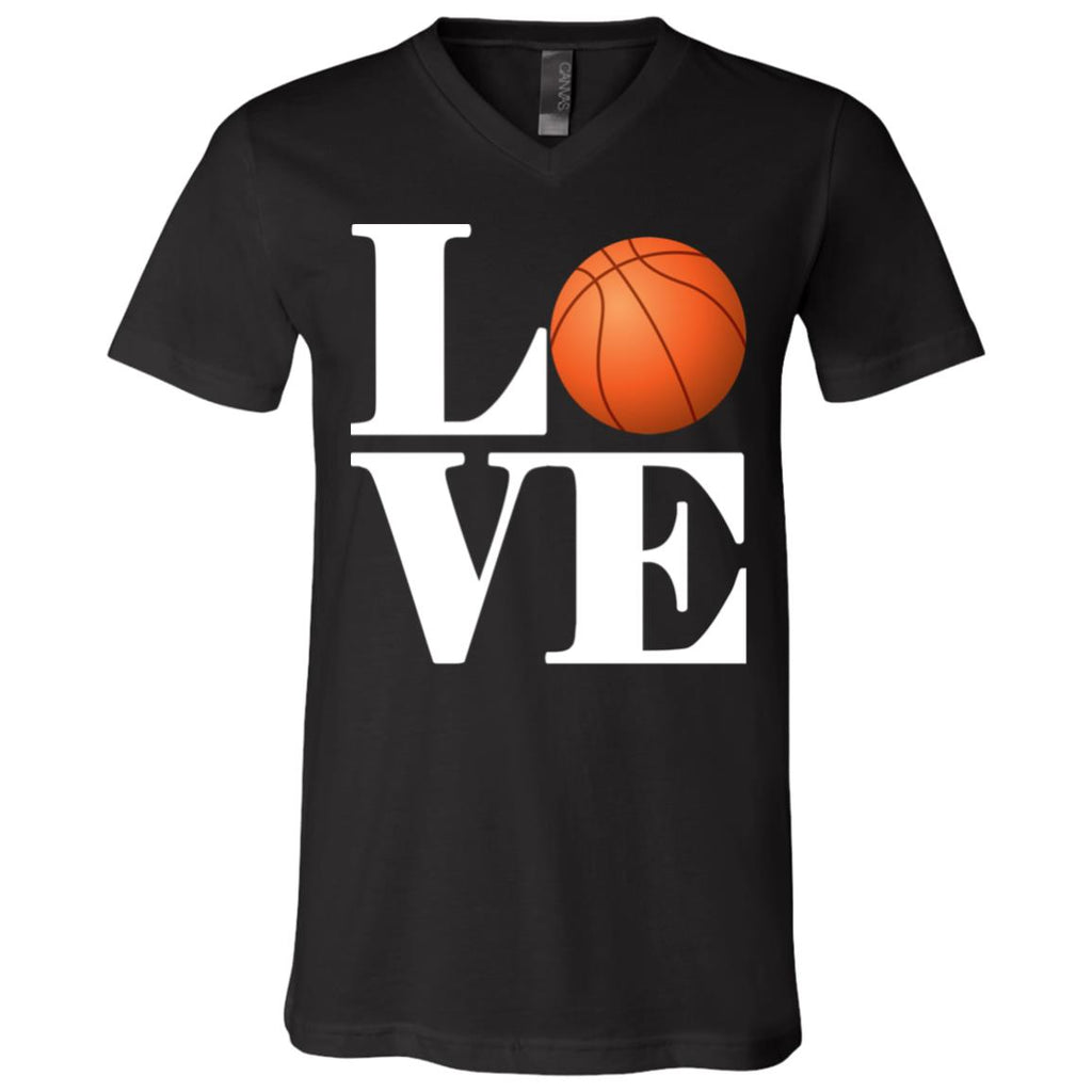614 Love Basketball 3005 Bella + Canvas Unisex Jersey SS V-Neck T-Shirt, T-Shirts, Whip Me Wear Fashion & T-Shirts