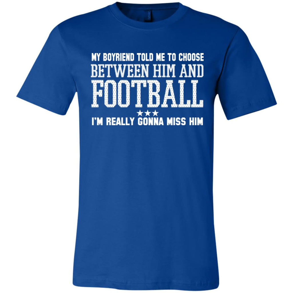 265 Choose Between Football 3001C Bella + Canvas Unisex Jersey Short-Sleeve T-Shirt, T-Shirts, Whip Me Wear Fashion & T-Shirts