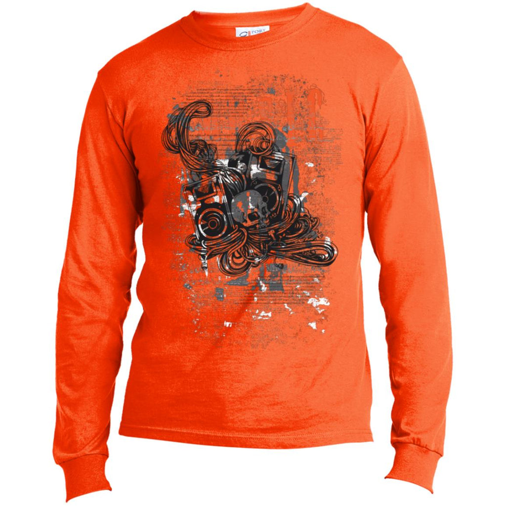 D377 Music Graphic USA100LS Port & Co. LS Made in the US T-Shirt, T-Shirts, Whip Me Wear Fashion & T-Shirts