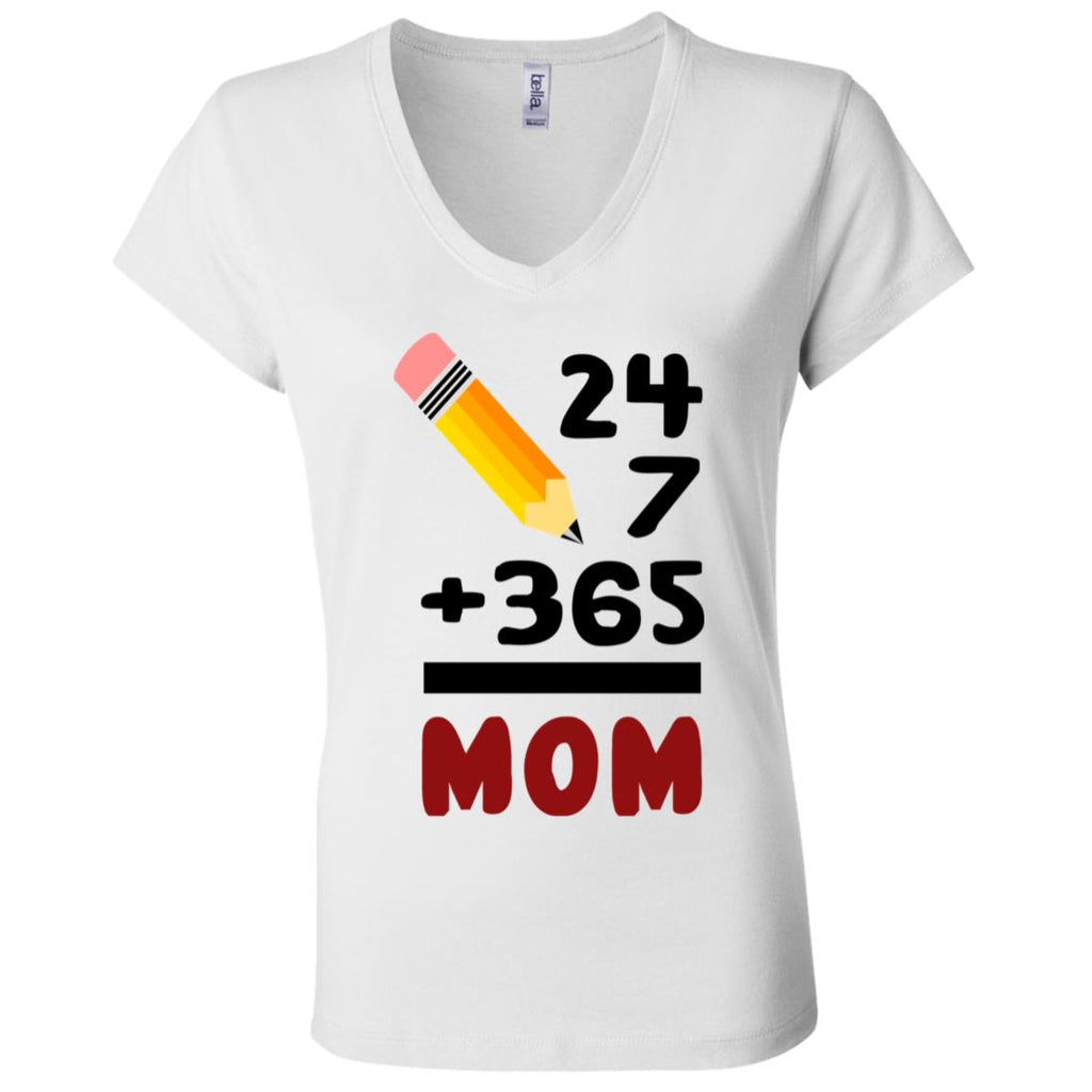 M22 Mom Twenty Four Seven B6005 Ladies' Jersey V-Neck T-Shirt, T-Shirts, Whip Me Wear Fashion & T-Shirts