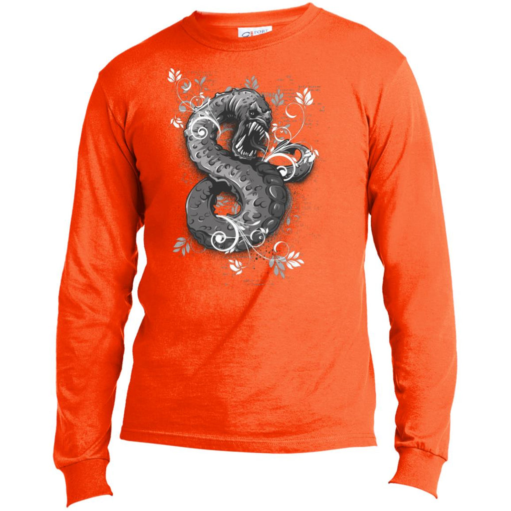 D414 Goth Graphic Snake USA100LS Port & Co. LS Made in the US T-Shirt, T-Shirts, Whip Me Wear Fashion & T-Shirts