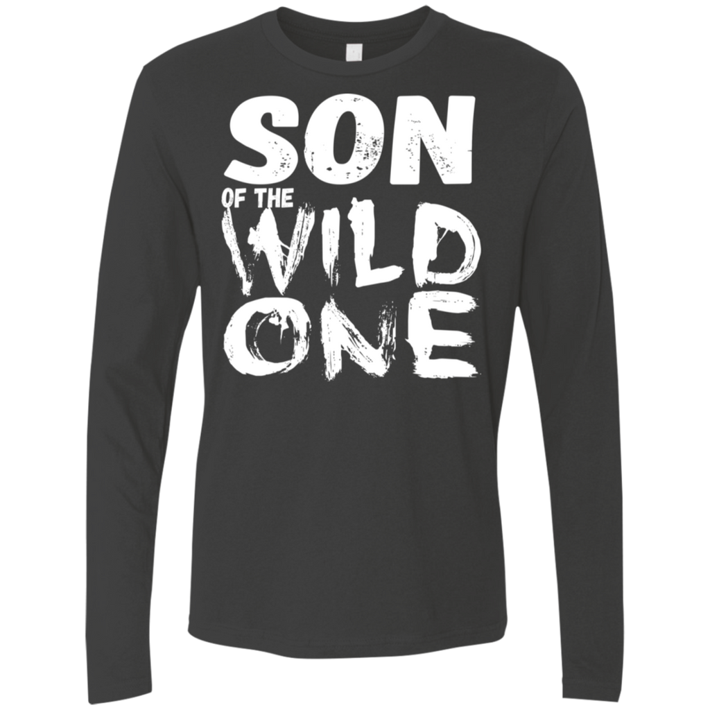 556 Son Of A Wild One NL3601 Next Level Men's Premium LS, T-Shirts, Whip Me Wear Fashion & T-Shirts