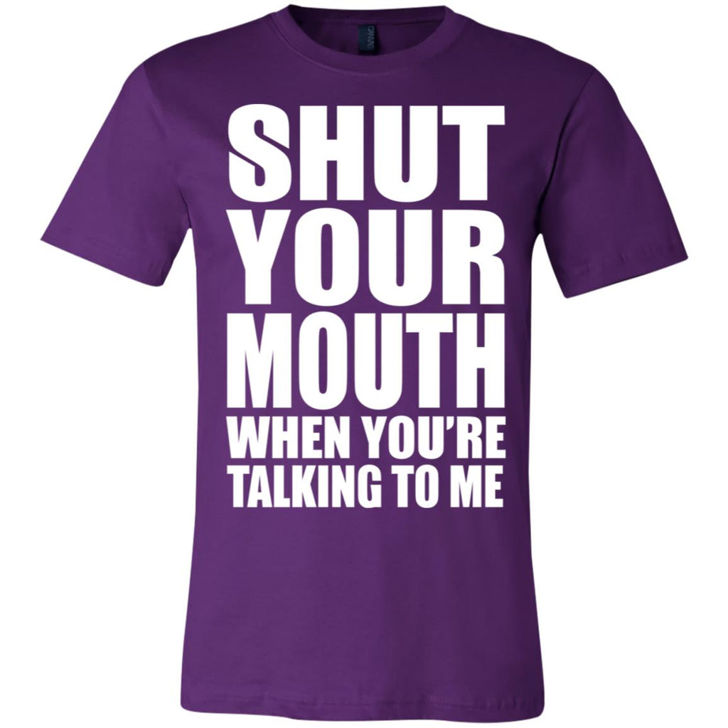 188 Shut Your Mouth Unisex Jersey Short-Sleeve T-Shirt, T-Shirts, Whip Me Wear Fashion & T-Shirts