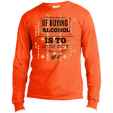 D713 Run Out Of Alcohol USA100LS Port & Co. LS Made in the US T-Shirt, T-Shirts, Whip Me Wear Fashion & T-Shirts