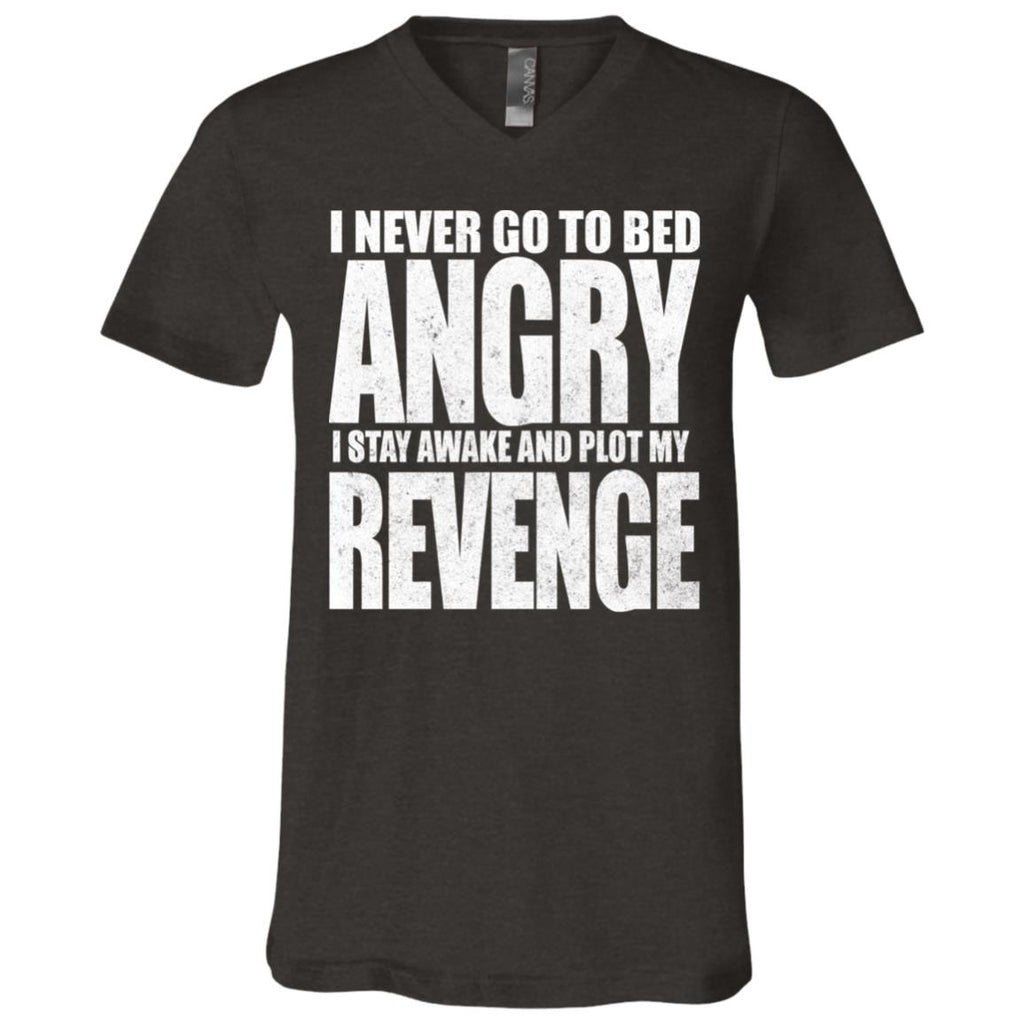 193 Never Go To Bed Angry 3005 Bella + Canvas Unisex Jersey SS V-Neck T-Shirt, T-Shirts, Whip Me Wear Fashion & T-Shirts