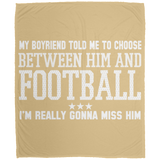 265 Choose Between Football DP1726 Large Velveteen Micro Fleece Blanket - 50x60, Blankets, Whip Me Wear Fashion & T-Shirts
