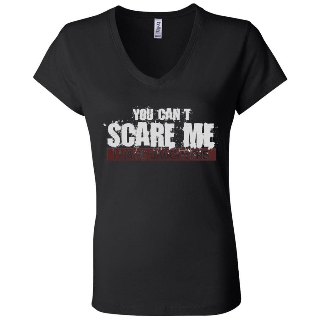 691 I Have Daughters B6005 Ladies' Jersey V-Neck T-Shirt, T-Shirts, Whip Me Wear Fashion & T-Shirts