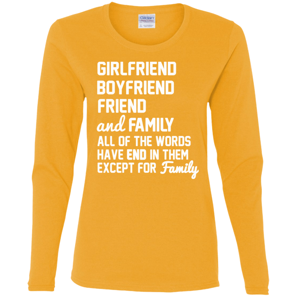 232 Girlfriend Boyfriend Friend Family G540L Gildan Ladies' Cotton LS T-Shirt, T-Shirts, Whip Me Wear Fashion & T-Shirts