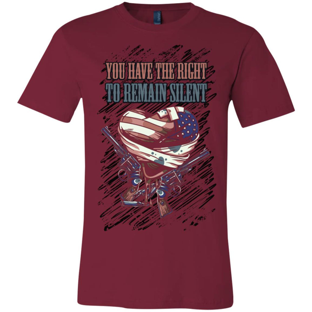 D602 Right Remain Silent 3001C Bella + Canvas Unisex Jersey Short-Sleeve T-Shirt, T-Shirts, Whip Me Wear Fashion & T-Shirts