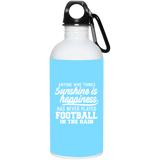 269 Football In Rain 23663 20 oz. Stainless Steel Water Bottle, Drinkware, Whip Me Wear Fashion & T-Shirts