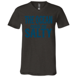 783 The Ocean Made Me Salty 3005 Bella + Canvas Unisex Jersey SS V-Neck T-Shirt, T-Shirts, Whip Me Wear Fashion & T-Shirts