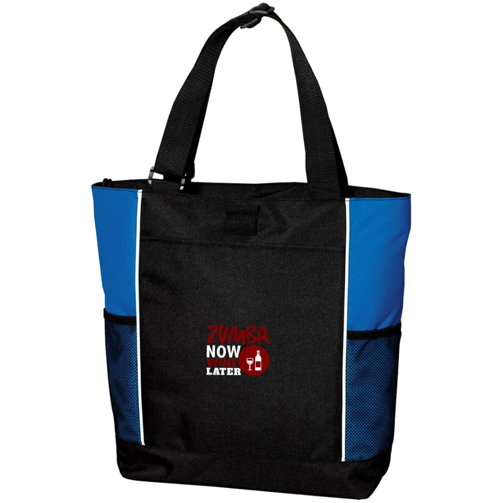 Z107 Zumba Now Wine Later B5160 Port Authority Colorblock Zipper Tote Bag, Bags, Whip Me Wear Fashion & T-Shirts