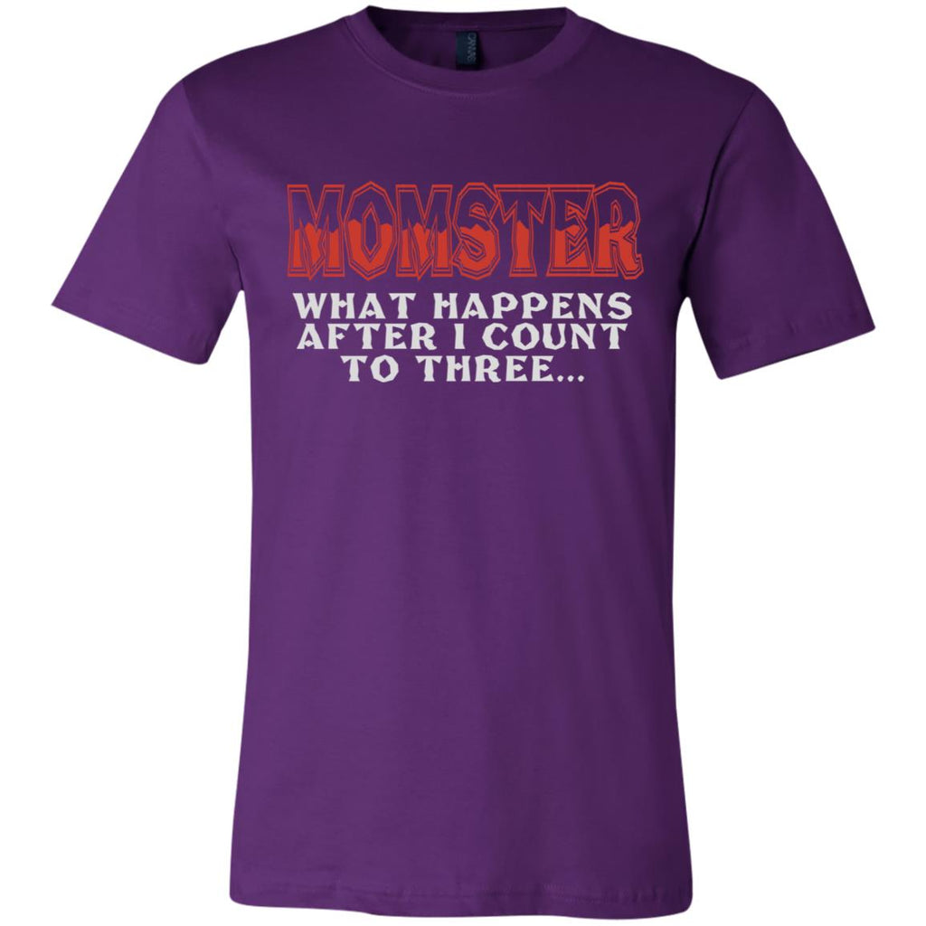 672 Momster Count 3 3001C Bella + Canvas Unisex Jersey Short-Sleeve T-Shirt, T-Shirts, Whip Me Wear Fashion & T-Shirts