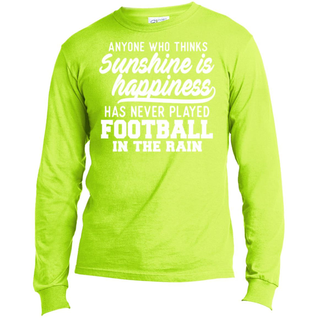 269 Football In Rain USA100LS Port & Co. LS Made in the US T-Shirt, T-Shirts, Whip Me Wear Fashion & T-Shirts