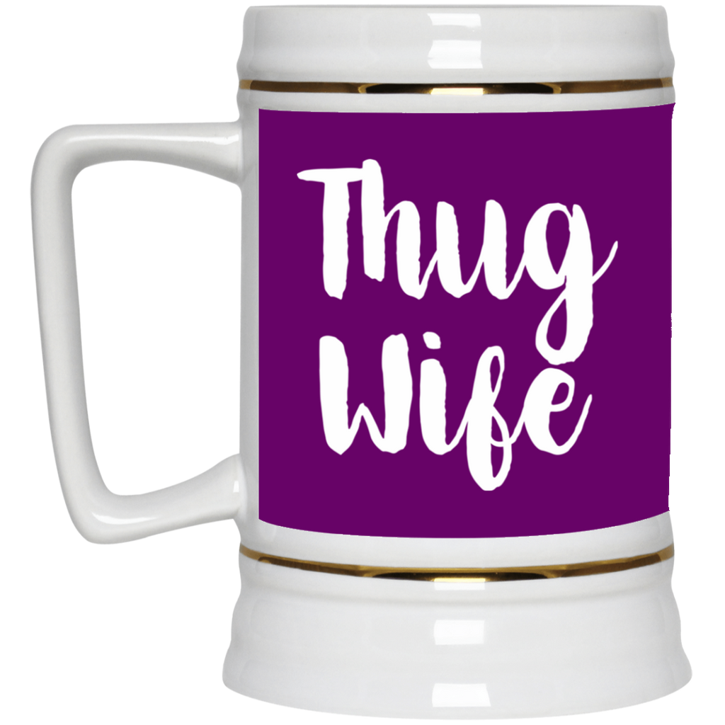 669 Thug Wife 22217 Beer Stein 22oz., Drinkware, Whip Me Wear Fashion & T-Shirts