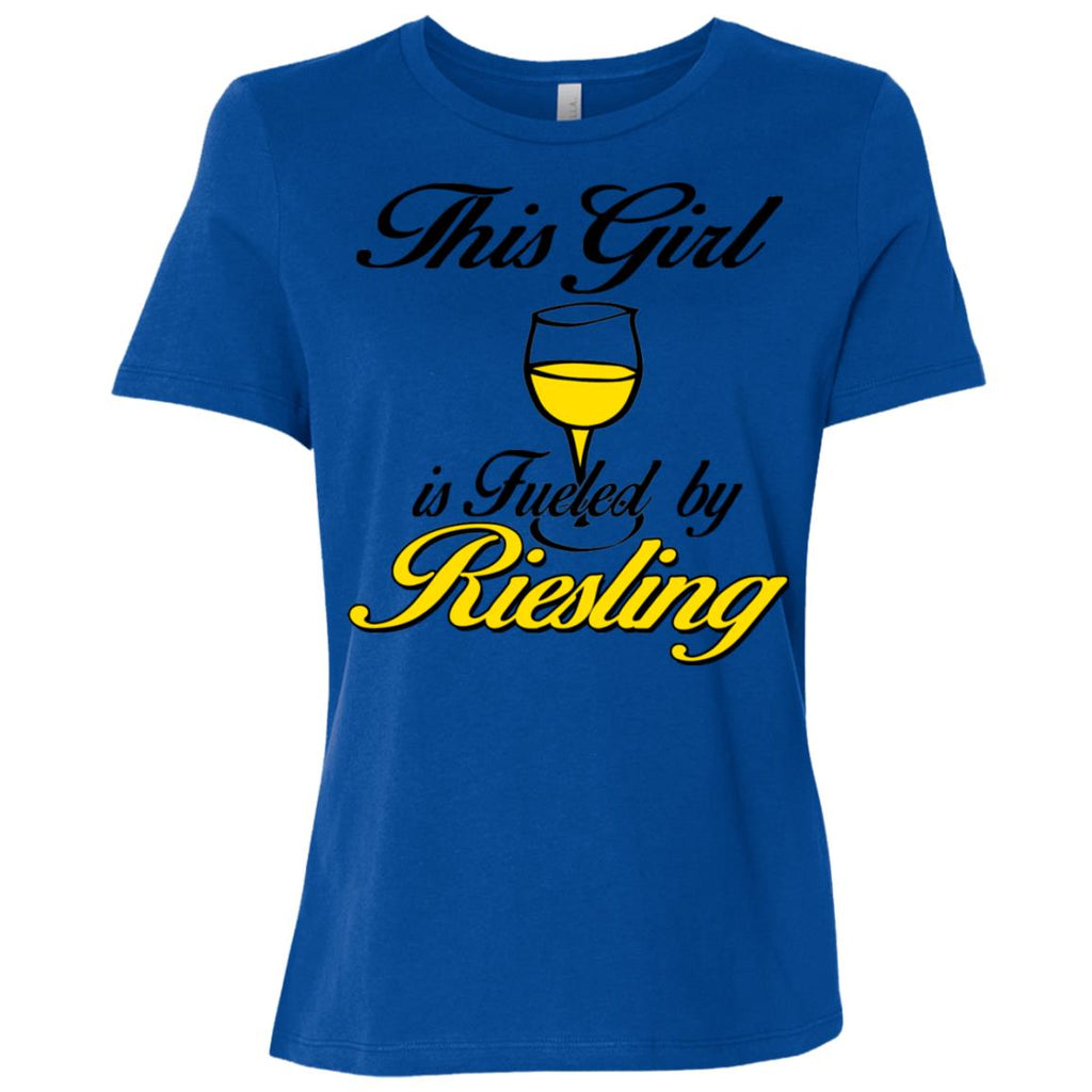 Z07 Girl Fueled By Reisling B6400 Bella + Canvas Ladies' Relaxed Jersey Short-Sleeve T-Shirt, T-Shirts, Whip Me Wear Fashion & T-Shirts