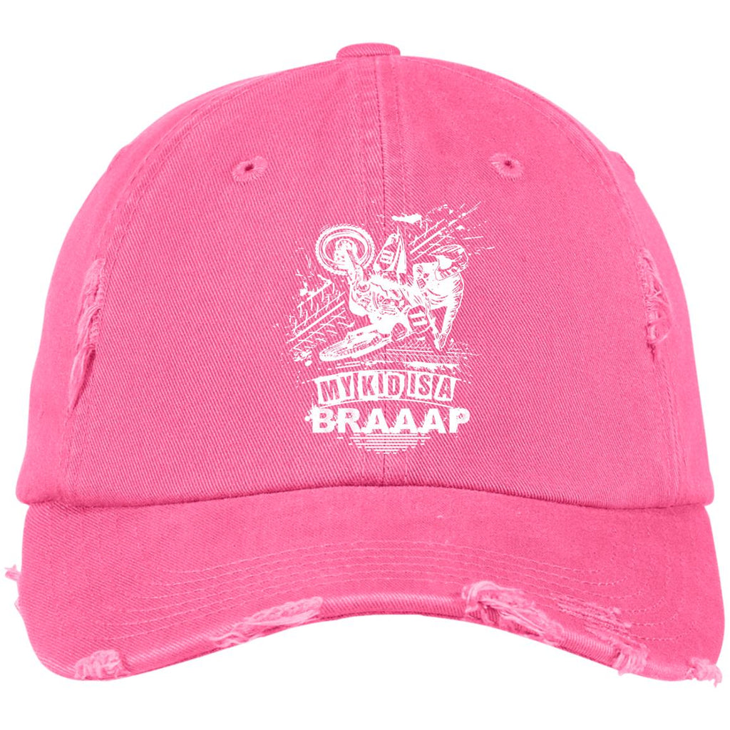 BK1 My Kid Is A Braap DT600 District Distressed Dad Cap, Hats, Whip Me Wear Fashion & T-Shirts