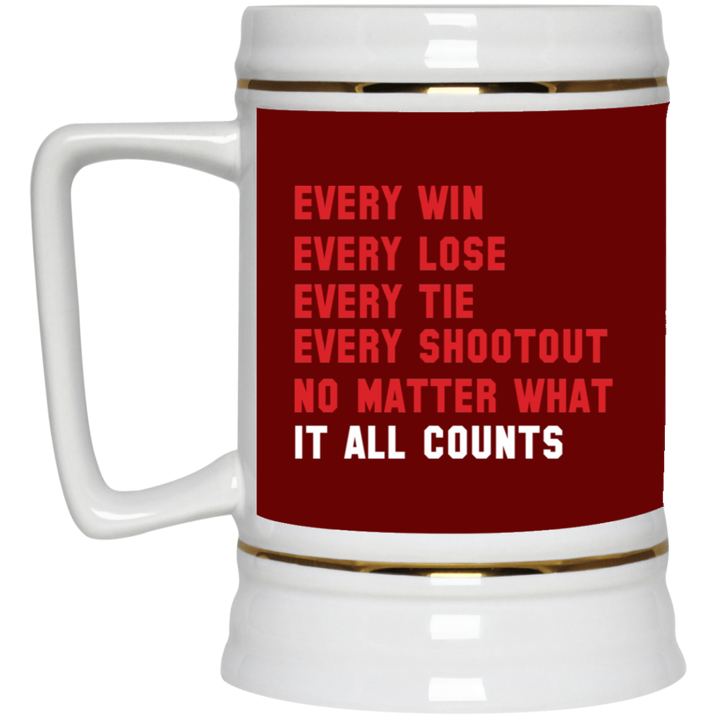 280 Win Lose Tie It All Counts 22217 Beer Stein 22oz., Drinkware, Whip Me Wear Fashion & T-Shirts
