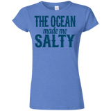 783 The Ocean Made Me Salty G640L Gildan Softstyle Ladies' T-Shirt, T-Shirts, Whip Me Wear Fashion & T-Shirts